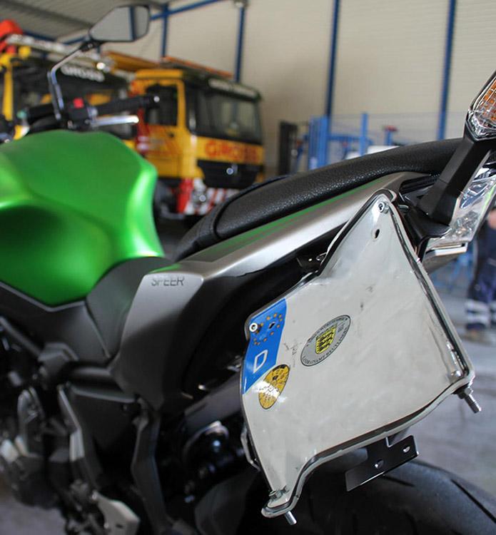 Unfallgutachten bei einem Motorrad